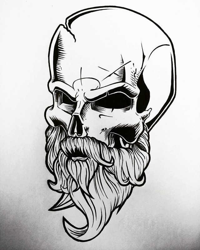 骷髅素描画法步骤